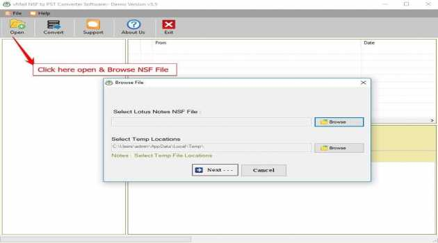 vMail NSF to PST Converter