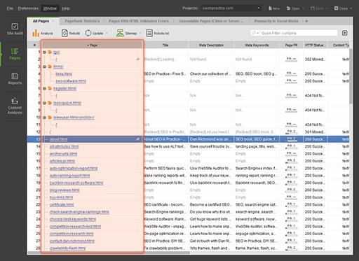 WebSite Auditor Enterprise