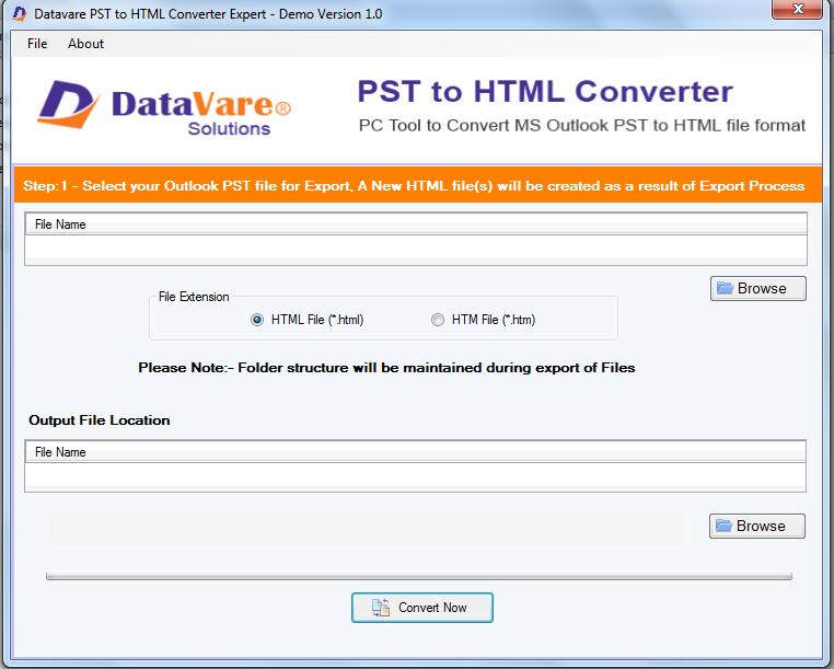 DataVare PST to HTML Converter Expert