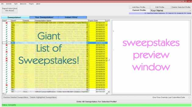 SweepersChoice Online Sweepstakes Soft