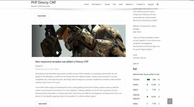 News Module for Directy CMF