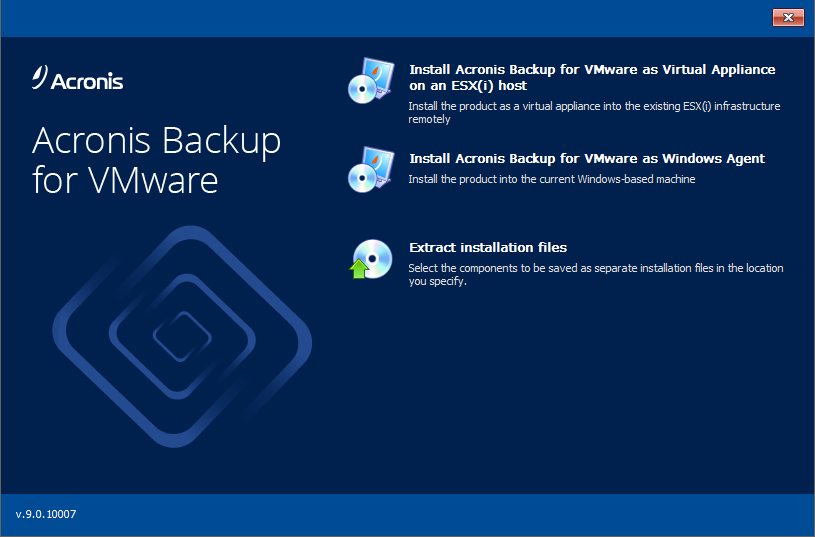 Acronis Backup for Virtual Host