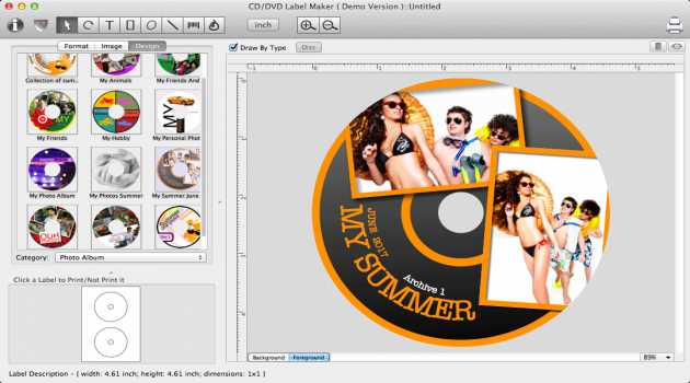 iWinSoft CD/DVD Label Maker for Mac