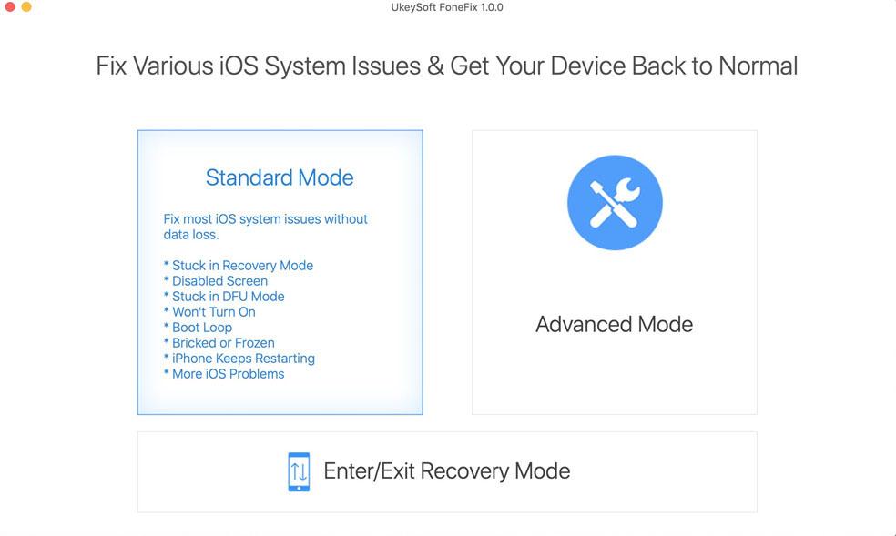 UkeySoft FoneFix for Mac