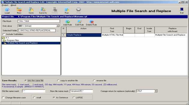 Multiple File Search and Replace