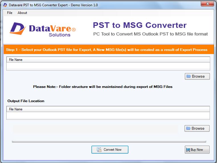 DataVare PST to MSG Converter Expert