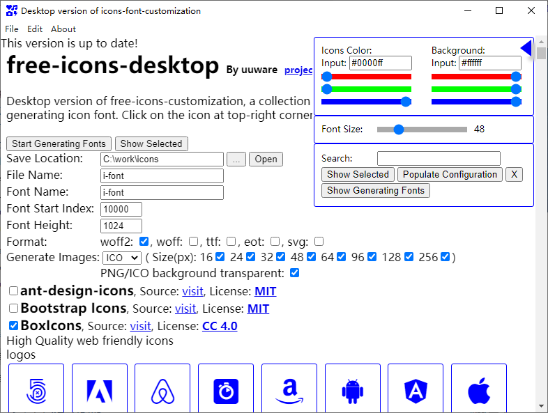 icons-font-desktop for OS X