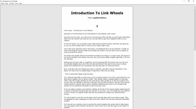 Introduction To Link Wheels