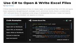 C# Open Excel File and Write to Excel