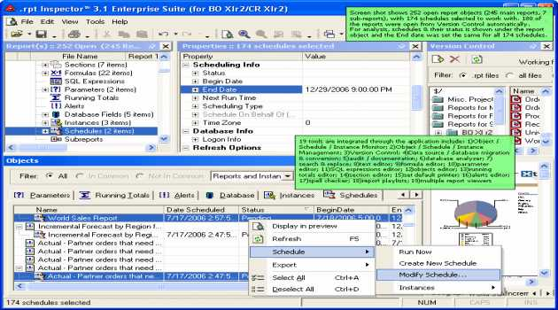 .rpt Inspector Enterprise Suite for Business Objects XIr2 / Crystal Reports XIr2