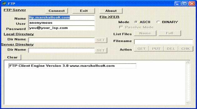 FTP Client Engine for Delphi