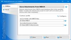 Save Attachments from MBOX for Outlook