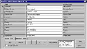 4TOPS Excel Import to MS Access 03