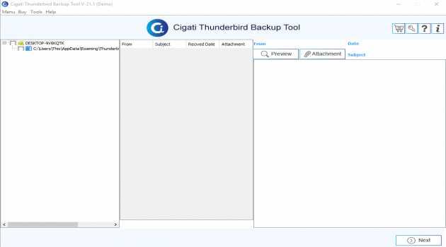Cigati Thunderbird Backup Tool