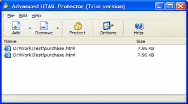 Advanced HTML Protector