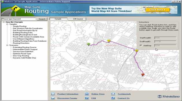 Map Suite Routing
