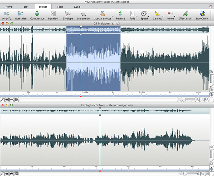 Wavepad Audio Editor Free for Mac