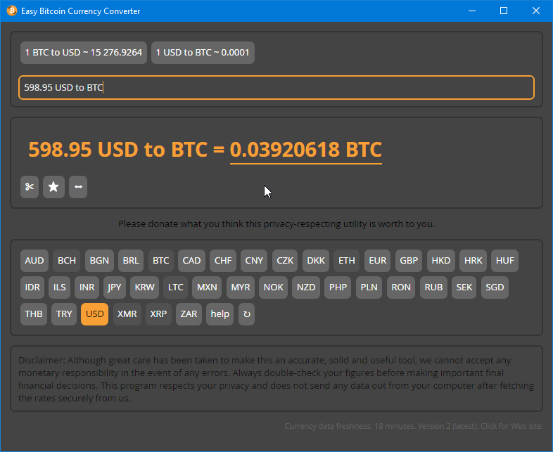 Ether unit conversion has also been added. Ether, Finney, Szabo, and Gwei  units are included.