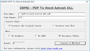 AzSDK PDF To Word ActiveX DLL