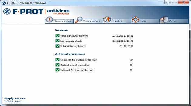 F-PROT Antivirus for Windows